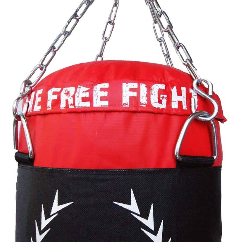 colgar saco de boxeo pared