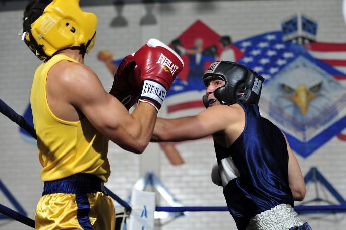 sparring de boxeo