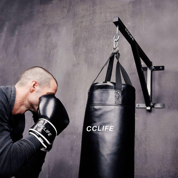 Wacent Soporte para Saco de Boxeo Saco de Boxeo para Trabajo Pesado Saco de Boxeo Soporte de Pared Soporte para Colgar Accesorio Saco de Boxeo Montaje en Pared