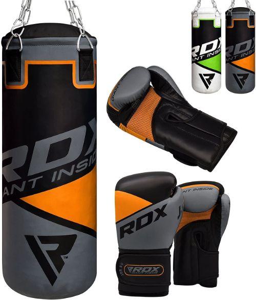 rdx pesado lleno saco de boxeo